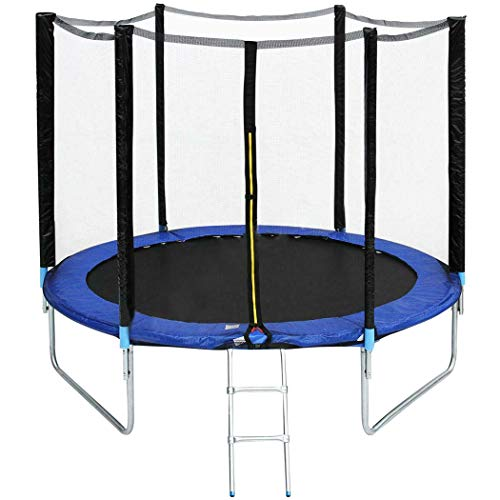 """Miokycl 96"""" 8FT Kids Trampoline with Safety Enclosure Net and Frame Cover Indoor Outdoor Sports..."""