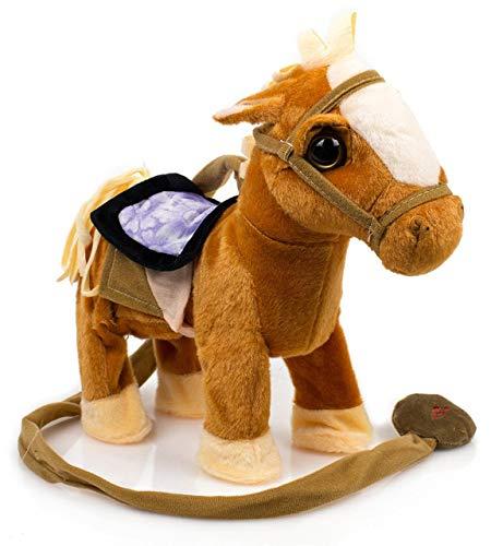 Toysery Kids Walking Pony Walk Along Toy Stuffed Plush Pony...