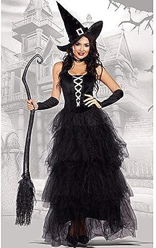 LVLUOYE Cosplay Halloween-Kostüm-Damen Sexy Umhang Hexe Kostüm Stage Performance Thema Masquerade Zubeh