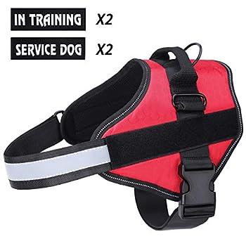 Harnais pour chien respirant sans traction réglable, Coffre d'aide à l'entraînement à la marche, Contrôle facile en extérieur pour les petits chiens de taille moyenne, Harnais pour chien rouge