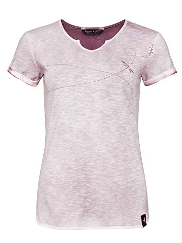 Chillaz Tao Swirl T-Shirt Women, 38/38 Damen, Violet Sprayed