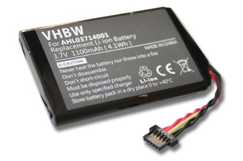vhbw Batería Li-Ion 1100mAh Compatible con Tomtom Go 950, Go 950 Live, 4CP9.002.00, 8CP9.011.10 reemplaza AHL03711008, HM9420236853