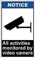 ニース安全警告金属看板、ビデオカメラによって監視されるすべての活動、個人化されたドアハンガーティーンエイジャー家の装飾のための目新しさ金属看板男性女性洞窟のティンサイン