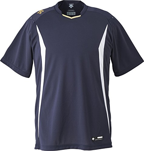 DESCENTE(デサント) 野球 ベースボールシャツ ネイビー×ホワイト Sサイズ DB120