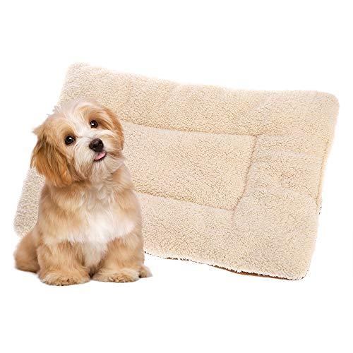 Decdeal Pet Cushion Soft Washable Reversible Fleece Puppy Dog Cat Pet Kennel Crate Mat