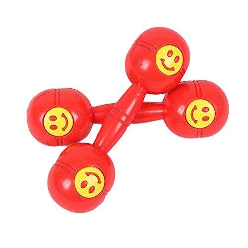 2 Paar Plastikspielzeug Dumbbell Kinder Hantel für Tanz Performance / Gymnastik