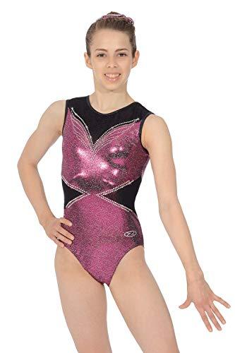 The Zone Dancewear Central Ellee - Body da ginnastica da ragazza, con...