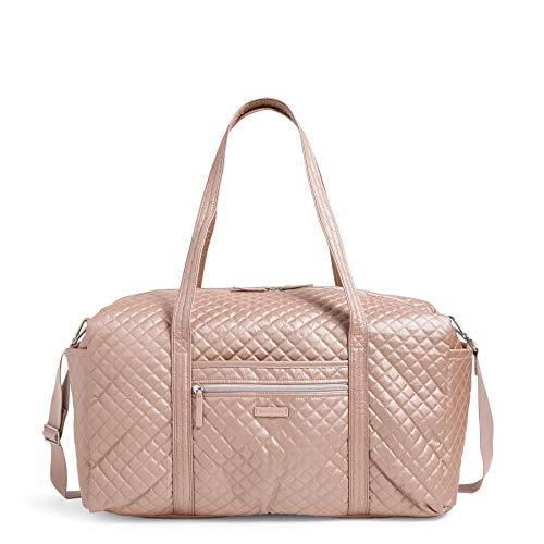 Vera Bradley Women's Signature Cotton Large Travel Duffle Bag, Rose Quartz, One Size
