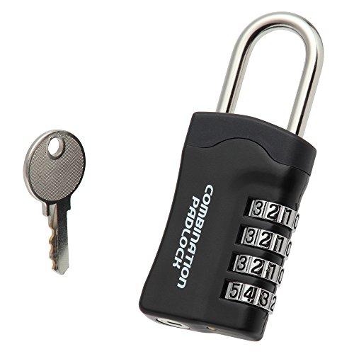 ノムラテック ダイヤル南京錠 リセット機能付 パドロックRK 4段型(10,000通り) 非常解除小鍵同一キータイプ N-1287