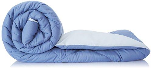 Amazon Brand - Solimo Microfibre Reversible Comforter, Single (Stone Blue & Silver Grey, 200GSM)