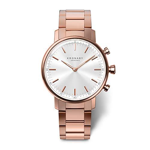 KRONABY Carat A1000-2446 - Reloj Inteligente híbrido para Mujer (Reloj Tradicional con Las capacidades de un Reloj Inteligente de 38 mm de diámetro, Cristal de Zafiro, 100 m, Resistente al Agua)