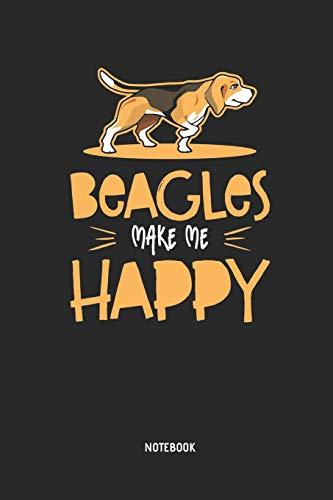 Beagle | Notizbuch: Beagles Make Me Happy - Liniertes Beagle Notizbuch. Tolle Geschenk Idee für Beagle Besitzer und alle die Beagle Hunde lieben.