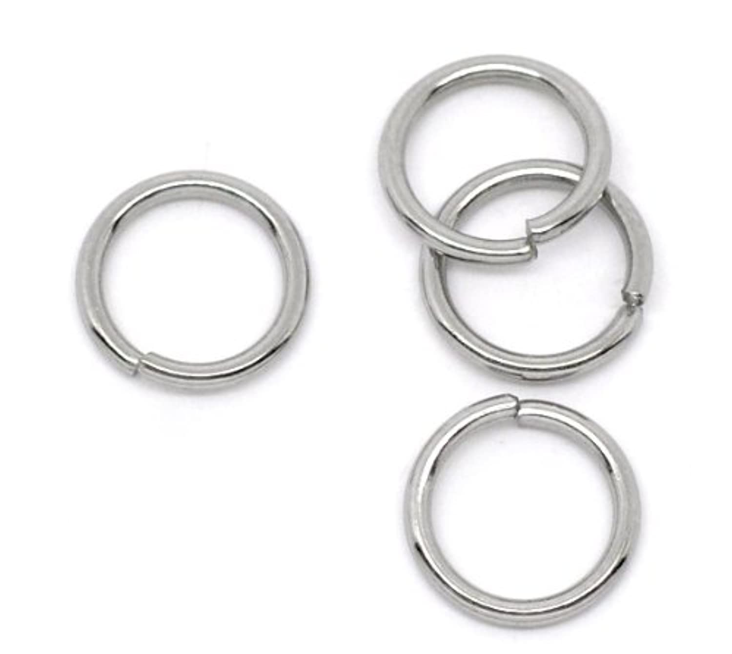 Valyria 200pcs Stainless Steel Open Jump Rings Connectors Jewelry Findings (10mm x 1.2mm)