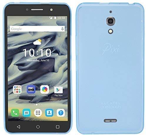 ENERGMiX Silikon Hülle kompatibel mit Alcatel Pixi 4 6.0 Zoll (8050D) Tasche Hülle Zubehör Gummi Bumper Schale Schutzhülle Zubehör in Blau