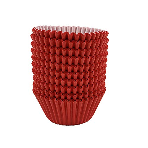 Worlds Red Paper Baking Cups Cupcake Liner for Cake Balls, Muffins, Cupcakes 200 Count