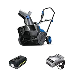 Snow Joe iON15SB-LT 15-Inch 40-Volt 2.5-Amp Cordless Single Stage Snow Blower