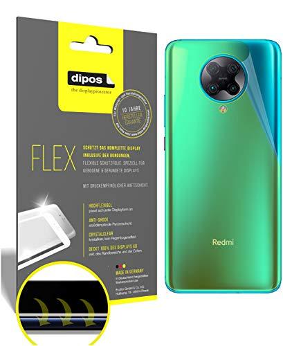 dipos I 2X Protector de Pantalla Compatible con Xiaomi Redmi K30 Pro Zoom Trasero - Cobertura 100% para Pantalla I 3D Full Cover láminas Protectoras