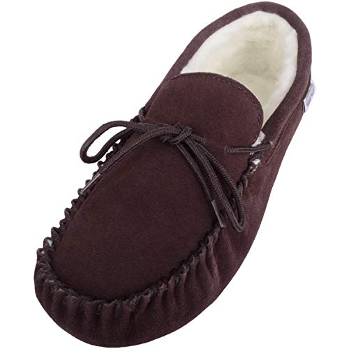 SNUGRUGS Alfie, Zapatillas de Estar por casa para Hombre, Marrón (Dark Brown), 39/40 EU