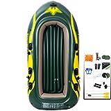 YUESFZ Kayaks gonflables Kayaks depontes Bateau en Caoutchouc Pliable, Bateau Gonflable Épaissi Résistant À l'usure, Bateau d'assaut Extra Épais 2/3/4 Personnes (Color : Green-9ft -4 People)