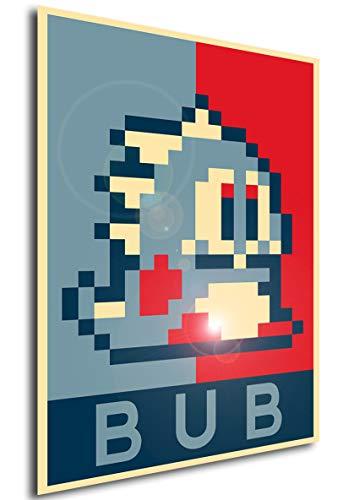 Instabuy Poster - Propaganda - Pixelart - Bubble Bobble - Bub A4 30x21