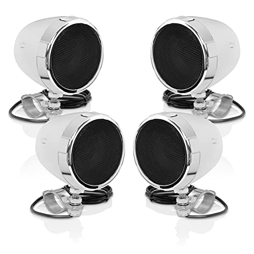 BOSS Audio Systems MC475BA Motorcycle Speaker Sound System - Bluetooth, Amplified, Weatherproof, 3...