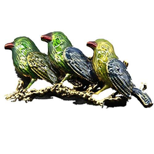 Garispace Retro Vögel Brosche Frauen Animal Broches Revers Geburtstagsgeschenk (Grün)