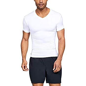 Under Armour Men s HeatGear Tactical V-Neck Compression Short-Sleeve T-Shirt  White  100 /Clear  Large