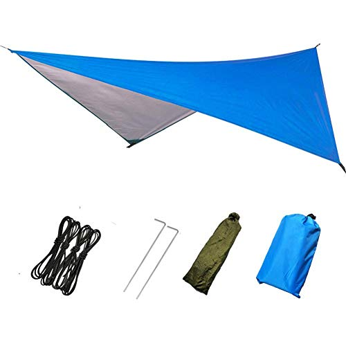 Zacha Hammock Tarp Awning Waterproof Camping Canopy Picnic Survival Gear Rainfly Cover Shelter Thickened Outdoor Beach anket Tent Accessories Backpacking(230x210Blue)