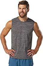 R-Gear Men's Lightweight Sleeveless Tank Top Shirt for Running, Gym, Yoga, Leisure | Challenge, Steel/Black, M