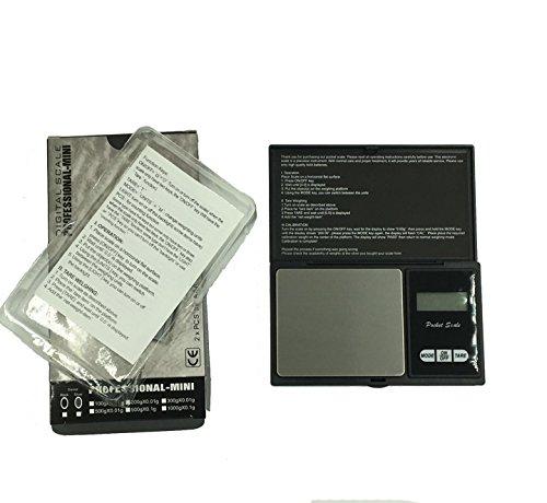 Digitale Taschenwaage, Protable Scale 500g-0,01g, Grammwaage, Goldwaage, Münzwaage mit LCD Display, Tare Function Schwarz