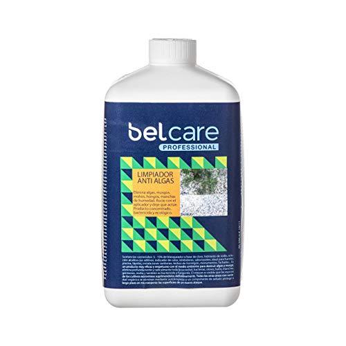 BELCARE - Limpiador Algas musgo y moho para piedra y hormigón – Elimina algas de Piscinas Fuentes y Fachadas