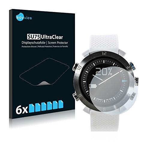 Savvies 6X Schutzfolie kompatibel mit Cogito Classic Bildschirmschutz-Folie Ultra-transparent