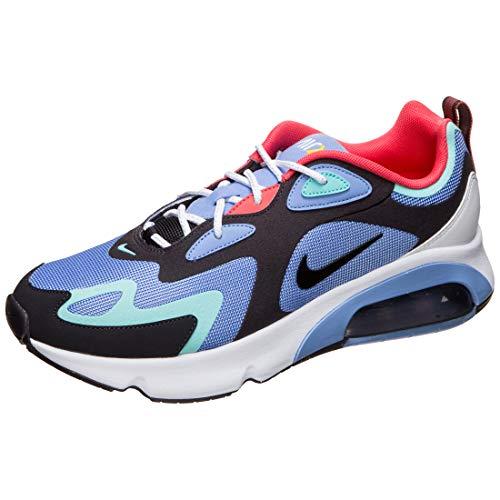 Nike Men's Air Max 200 (1992 World Stage) Royal Pulse/Light Aqua/Ember Glow/Oil Grey AQ2568-401 (Size: 12)