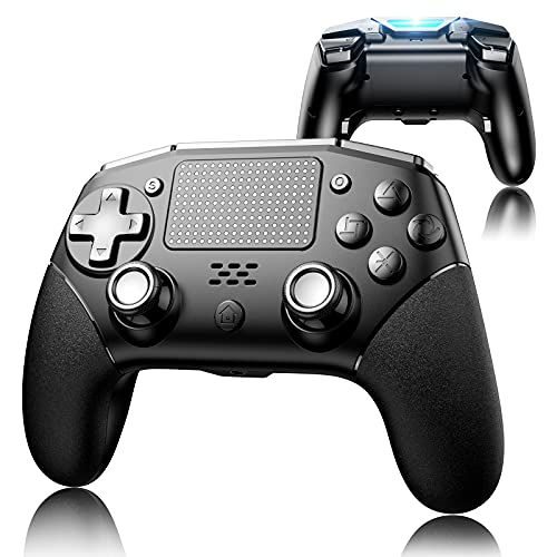 PS4 Controller with 4 Paddles, UeeVii Wireless Game Controller Compatible with Playstation 4/Pro/Slim/TV/Steam Truly Ergonomic Touch Function Audio Jack 1000mAh Battery