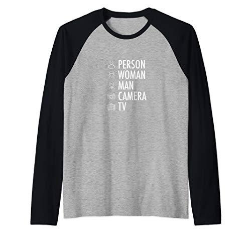 Person, Woman, Man, Camera, Tv Cognitive Test Words Raglan