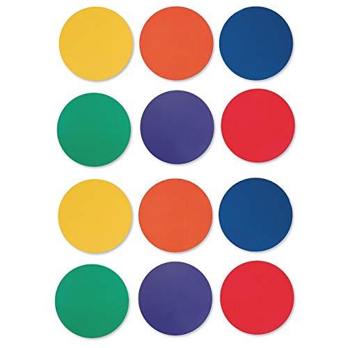 S&S Worldwide 5' Spectrum Spot Markers (Set of 12)