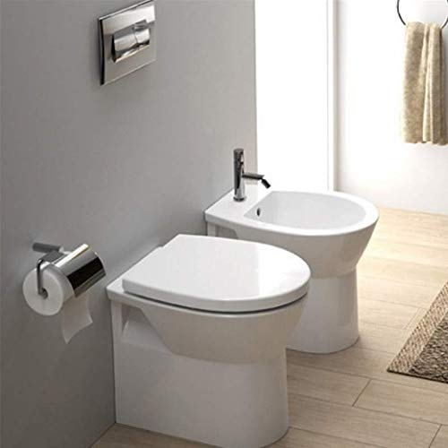 Sanitari bagno Filo Muro Sanindusa Easy Compact Wc, Bidet e sedile Termoindurente