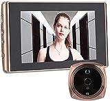 Telecamera Spioncino, 4300E Spioncino Digitale WiFi Intelligente Visore Notturno Rilevatore di Movimento Visualizzatore Porta Digitale con Scatto Automatico Foto/Obiettivo grandangolare 160 °