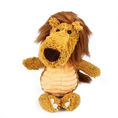 LZYMLG Plüsch Nagen Molaren Bissfeste Pet Toy Teddy Kleine und mittlere Pet Vocal Toy Hundespielzeug Löwe