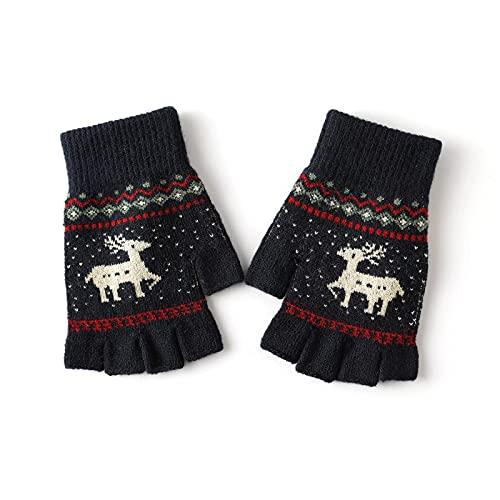 YVIIWL Winter Warme Fingerlose Thermo Handschuhe Touchscreen Herren Damen Kinder Fahrrad Mtb Arthrose