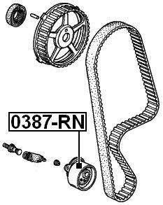 14520Plc305 Febest Pulley Idler For Honda