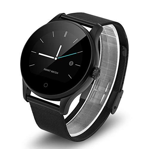 K88H Smart Watch Tracker Bluetooth orologio da polso cardiofrequenzimetro sportivo con pedometro Dialing Smartwatch Phone per Android IOS - nero