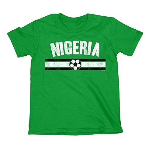 buzz shirts NIÑOS O NIÑAS Nigeria Distressed Country FÚTBOL Camiseta Copa Mundial 2018 Kids Sports