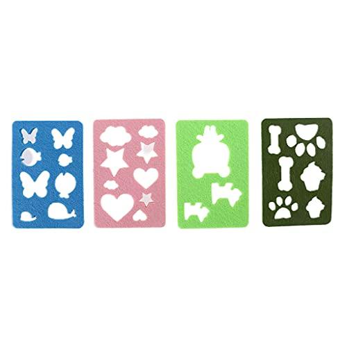 PHILSP Moldes de Fieltro de Aguja, moldes de Fieltro de Aguja de Fieltro de Colores, Plantilla de Fieltro de Bricolaje, Plantilla, Aplique, artesanía 4