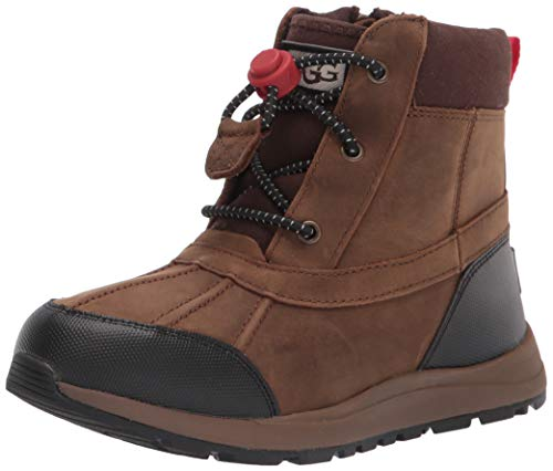 UGG K Turlock Leather Weather Boot, Walnut, Size 10