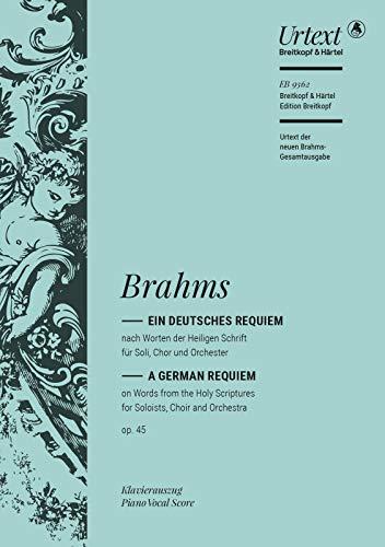 Ein deutsches Requiem op. 45 - Klavierauszug (EB 9362)