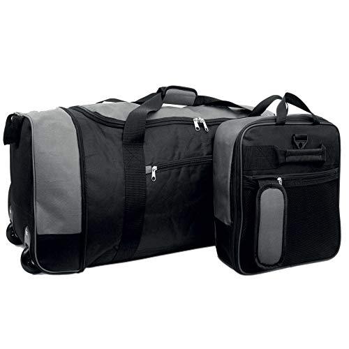 iN Travel Foldaway Holdall On Wheels (Black/Grey)