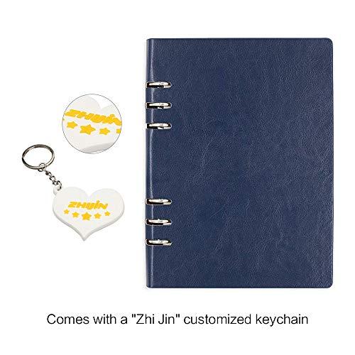 Zhi jin A5Loose Pocket cover rigida in pelle ricaricabili anelli notebook Gazzetta diario Bussiness Royal Blue