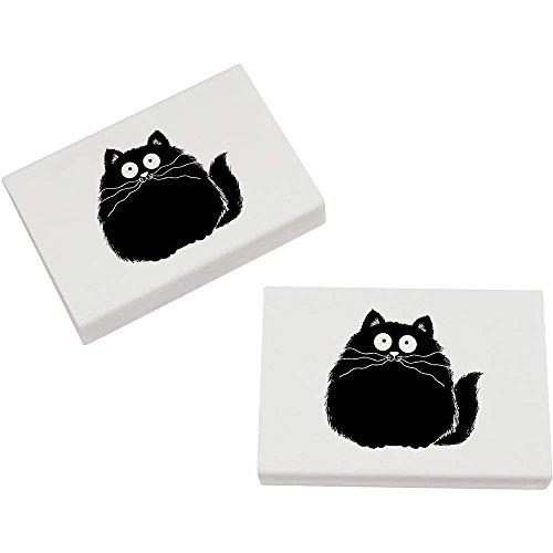 Azeeda 2 x 45mm 'Fette Katze' Radiergummis (ER00018701)
