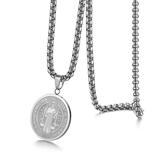 Halskette Herren Kreuz Halsketten Mann Edelstahl Christlicher Schmuck Mode Anhänger Kette Halskette Silber